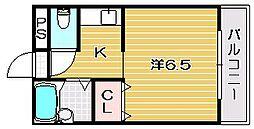 大阪府茨木市片桐町の賃貸マンションの間取り