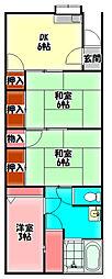 Osaka Metro今里筋線 清水駅 徒歩3分の賃貸テラスハウス 1階3DKの間取り