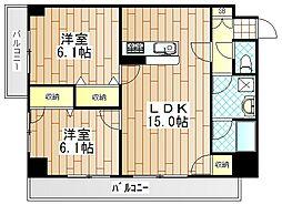 神奈川県厚木市栄町1丁目の賃貸マンションの間取り