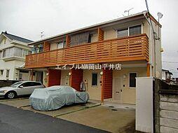 岡山県岡山市中区円山の賃貸アパートの外観
