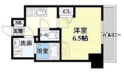 ララプレイス ザ・京橋ステラ 7階1Kの間取り