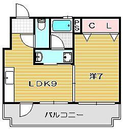 大山マンション[303号室]の間取り