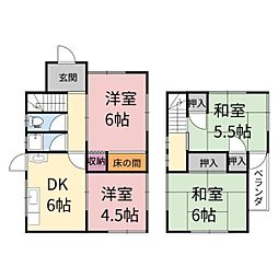 [一戸建] 兵庫県姫路市飾西 の賃貸【兵庫県 / 姫路市】の間取り