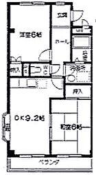 鈴の木ハイツA[105号室]の間取り