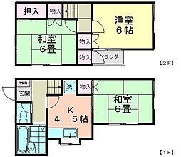 [テラスハウス] 千葉県船橋市西習志野3丁目 の賃貸【千葉県 / 船橋市】の間取り