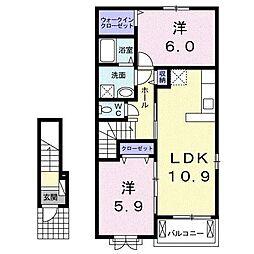 ドゥ アーブル[2階]の間取り