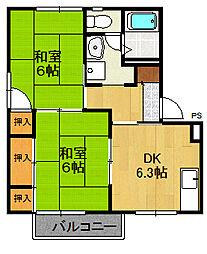 ラフォーレ21 G棟[1階]の間取り
