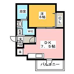 エクセレンシア博多[5階]の間取り