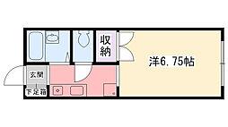 ルフロン甲子園[205号室]の間取り