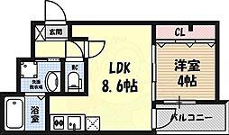 MOVE平安 1階1LDKの間取り