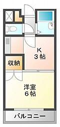 ベルビューレ江坂壱番館[3階]の間取り