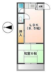 メゾンアオキ[3階]の間取り