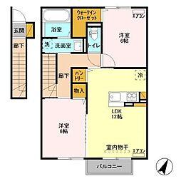 仮)D-room永国I[202号室]の間取り