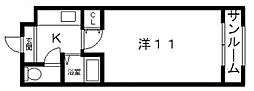 高津ヒルトン[5階]の間取り