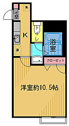 マ・メゾン[201号室]の間取り