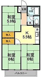 香川県高松市香西本町の賃貸アパートの間取り