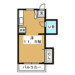 リバークレスト21[3階]の間取り