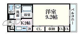 JR芸備線 矢賀駅 徒歩12分の賃貸アパート 2階1Kの間取り