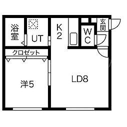 ドリームハウスII[2階]の間取り