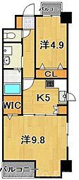 REGARIA KOKURAKITA CENTER PLACE[3階]の間取り