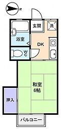 グリーンハイツ[2階]の間取り