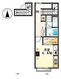 レオパレス千音寺[2階]の間取り