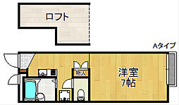 レオパレスWing K[2階]の間取り