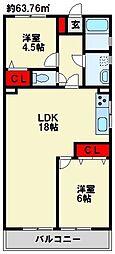 グランドハイツ別所[2階]の間取り