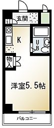 埼玉県朝霞市浜崎1丁目の賃貸マンションの間取り