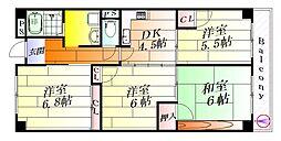 サクセスハイツ西尾[2階]の間取り