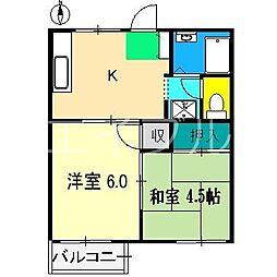 サンハイツ(一宮徳谷)[2階]の間取り