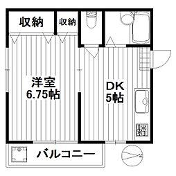 東京都世田谷区太子堂5丁目の賃貸マンションの間取り