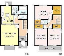 [テラスハウス] 東京都練馬区南大泉3丁目 の賃貸【/】の間取り
