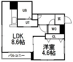 erys hiragishi[202号室]の間取り