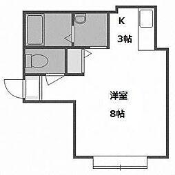 リバティーA棟[1階]の間取り