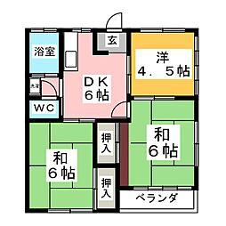 富貴コーポ[2階]の間取り