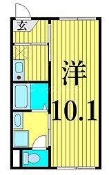 JR常磐線 南千住駅 徒歩12分の賃貸マンション 1階1Kの間取り