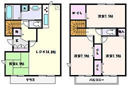 [タウンハウス] 兵庫県神戸市東灘区住吉本町3丁目 の賃貸【/】の間取り