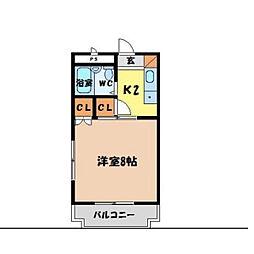 アンビロン[3-E号室]の間取り