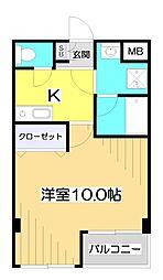埼玉県志木市上宗岡3丁目の賃貸マンションの間取り