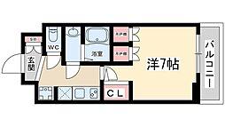 おおさか東線 JR淡路駅 徒歩5分の賃貸マンション 9階1Kの間取り