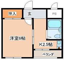 神奈川県厚木市水引1丁目の賃貸マンションの間取り
