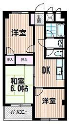 渡辺マンション[M207号室]の間取り