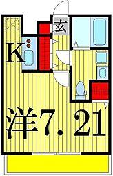 エムクレール4[402号室]の間取り