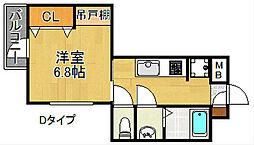 UNITY TAMADE[2階]の間取り