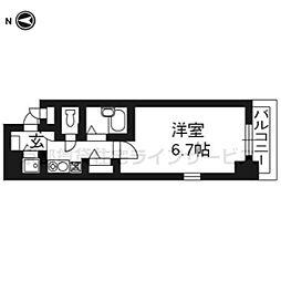 プレサンス京都東山CityLife601[6階]の間取り