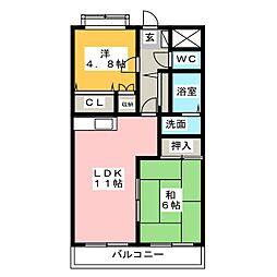 ベルメゾンきららI[2階]の間取り