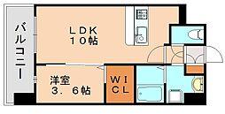 グランドクリーンヒット松田[4階]の間取り