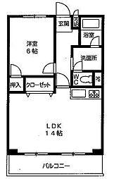 サニーサイド新大阪[8階]の間取り