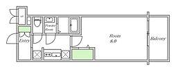 Osaka Metro堺筋線 堺筋本町駅 徒歩5分の賃貸マンション 14階1Kの間取り